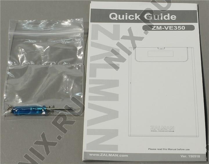 инструкция для zalman zm-ve350